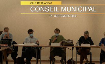conseil municipal du 21 septembre 2020