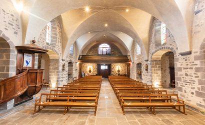 éclairage led à l'église