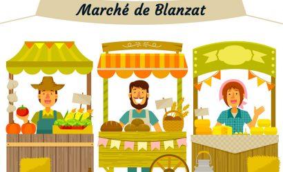 Demande d'emplacement au marché communal de la ville de Blanzat